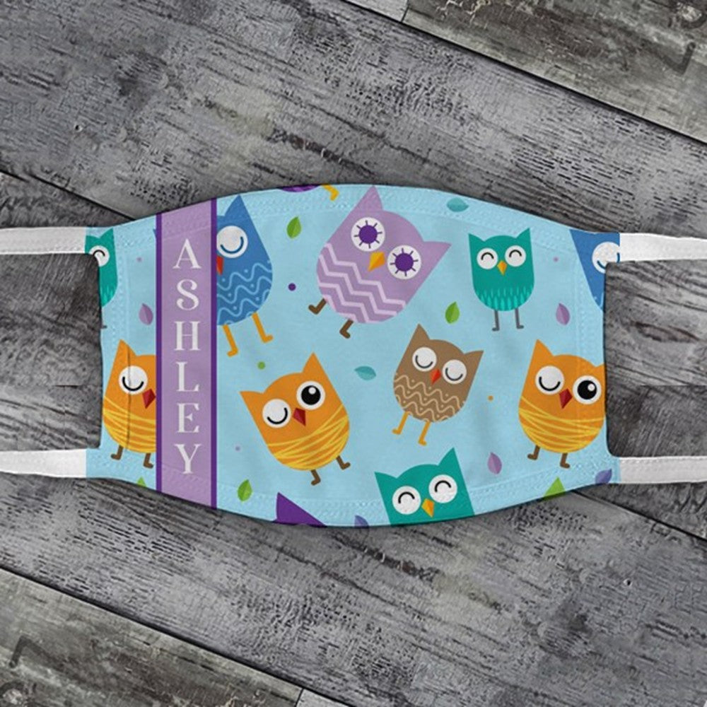 Child's Dancing Owls Face Mask
