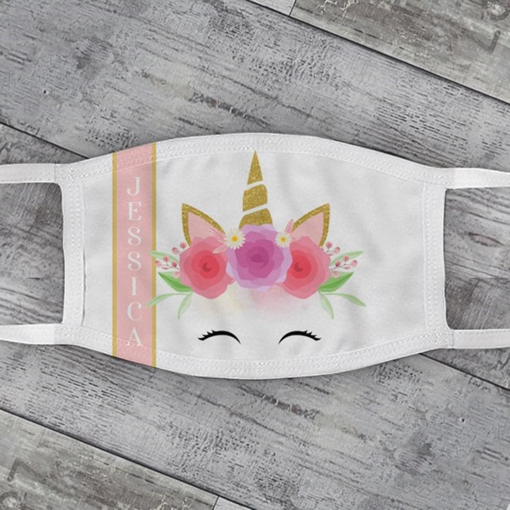 Child's Dreaming Unicorn Face Mask
