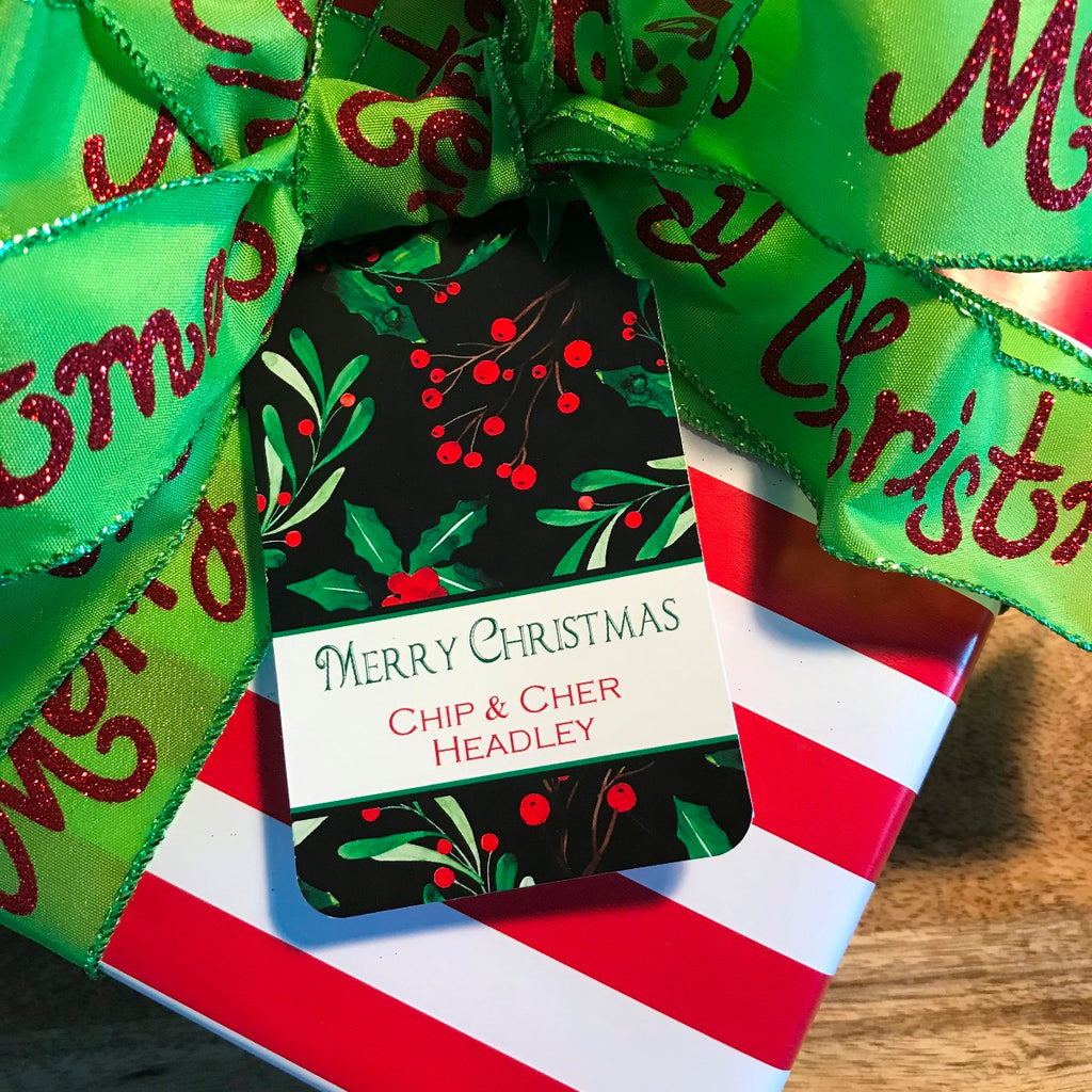 Holiday Holly Gift Tags