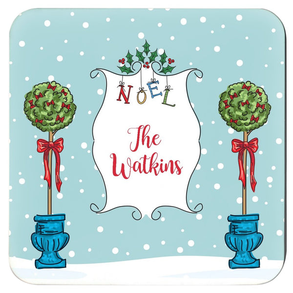 Holiday Noel Coaster Set