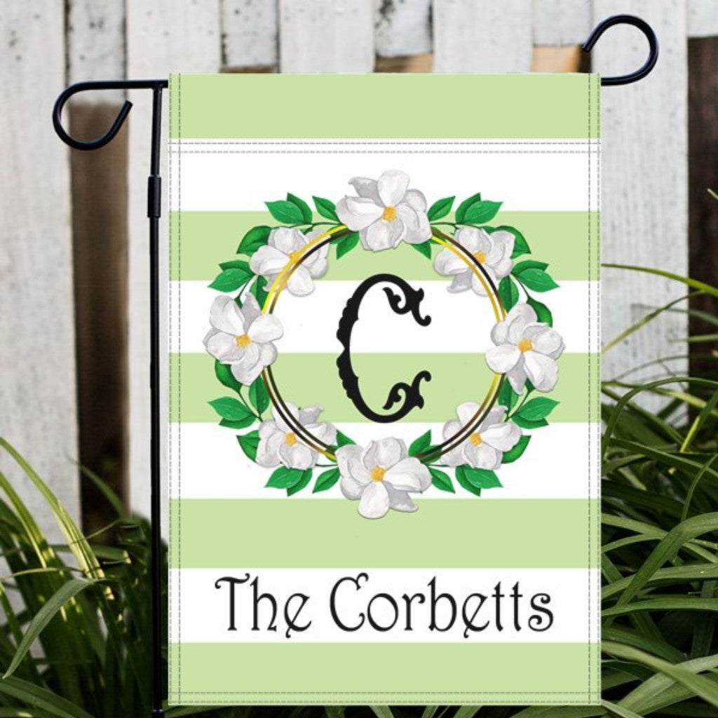 Magnolia Wreath Garden or House Flag