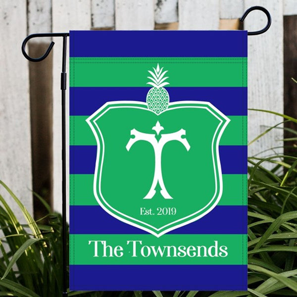 Pineapple Crest Garden or House Flag - choose colors