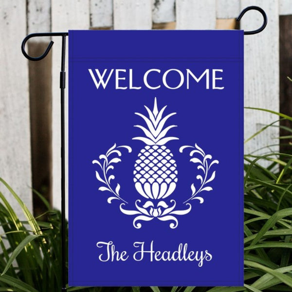 Pineapple Garden or House Flag - Choose Colors