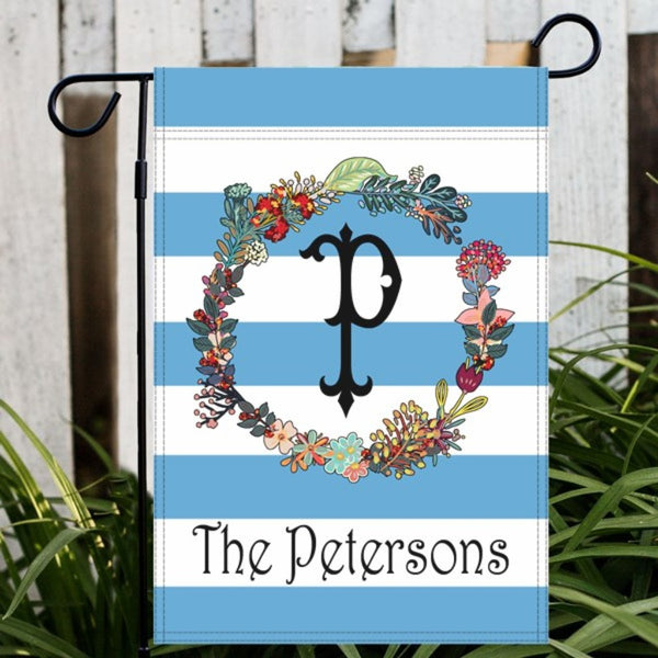 Floral Wreath Garden or House Flag