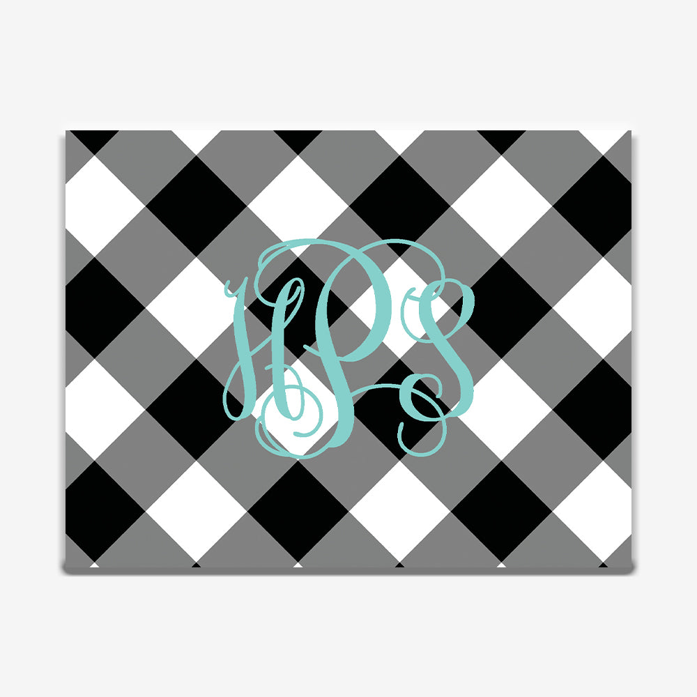 Black Gingham Note Cards