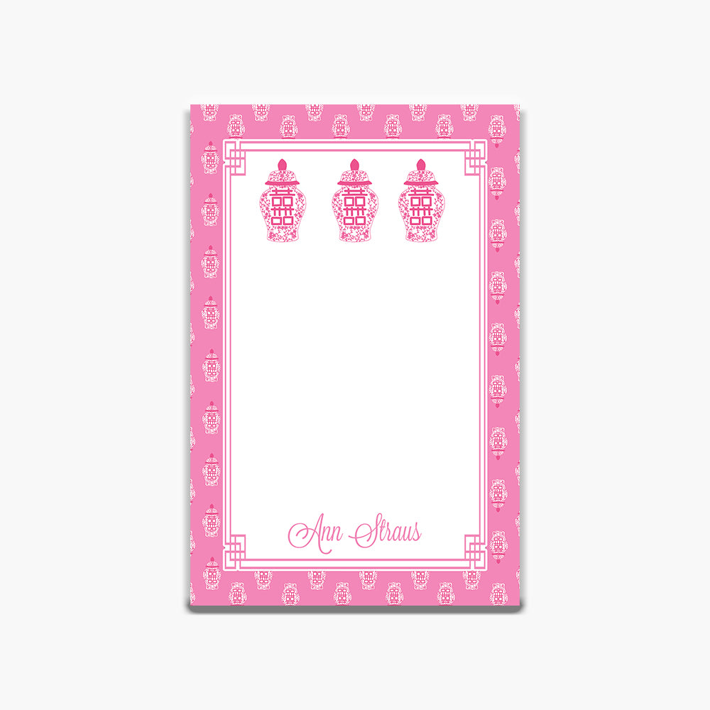 Pink Ginger Jar Note Pad