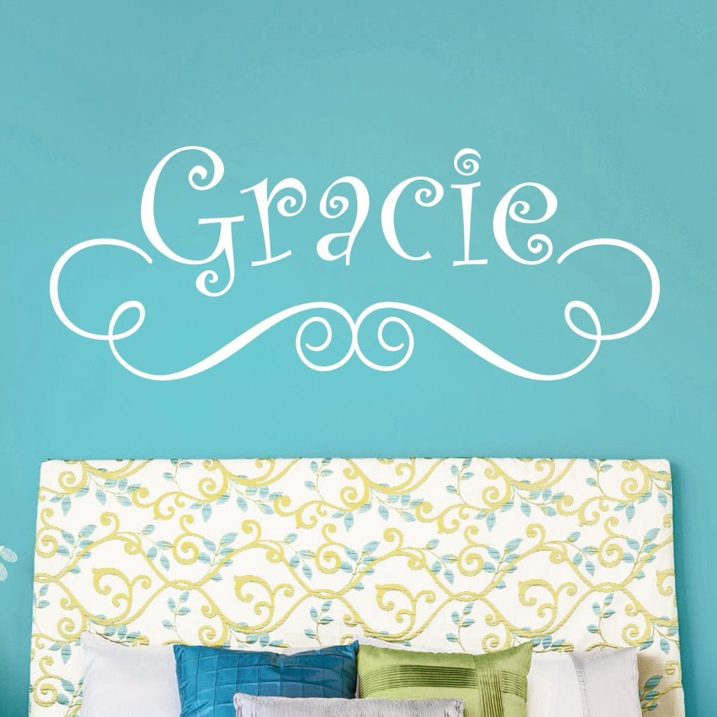 Whimsical Name Wall Decal