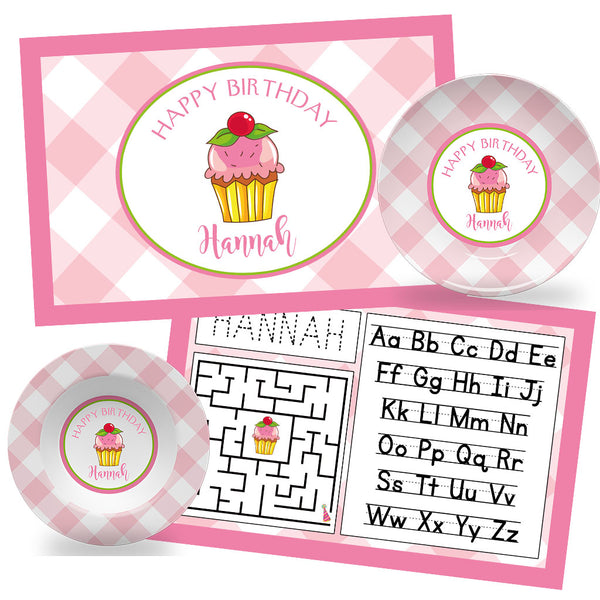 Happy Birthday Cupcake Children's Tabletop Set