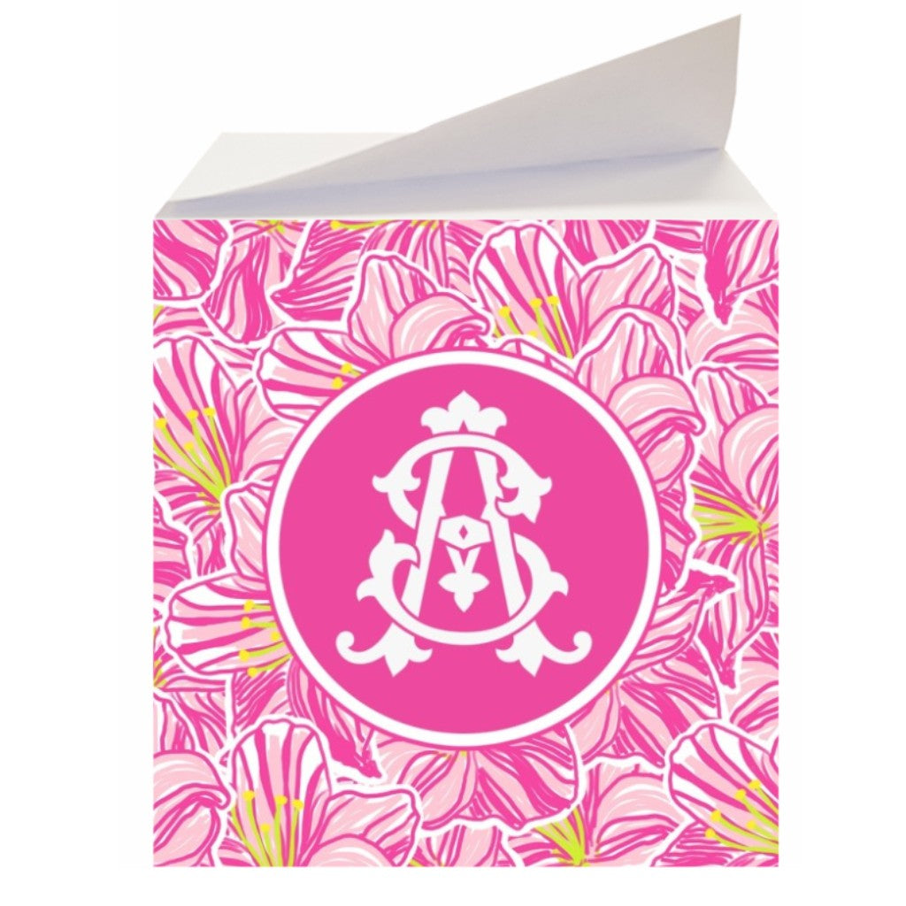 Hibiscus Sticky Memo Note Cube