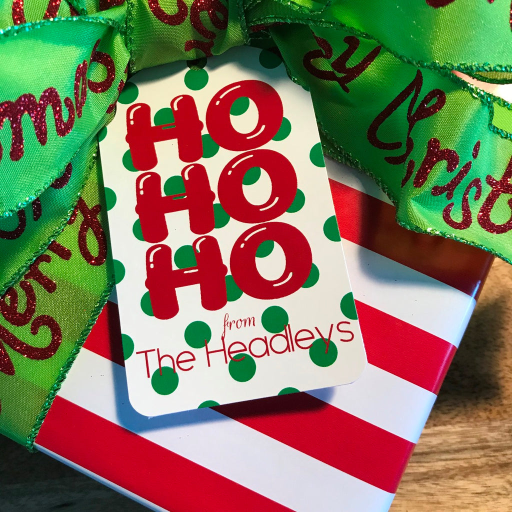 Holiday HO HO HO Gift Tags