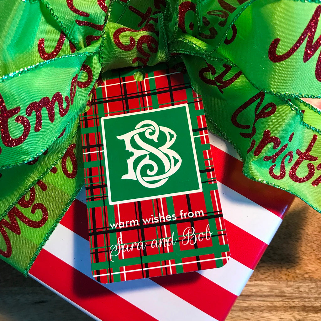 Holiday Plaid Gift Tags