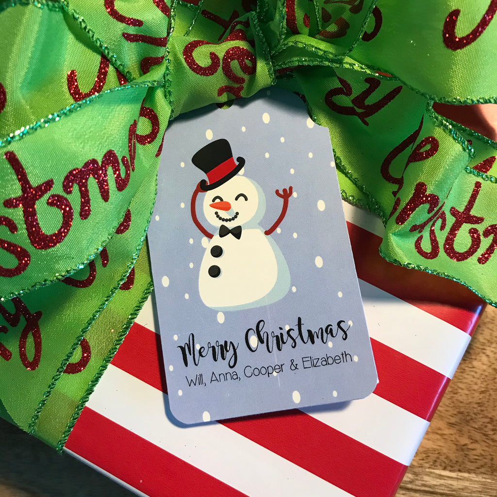Holiday Snowman Gift Tags