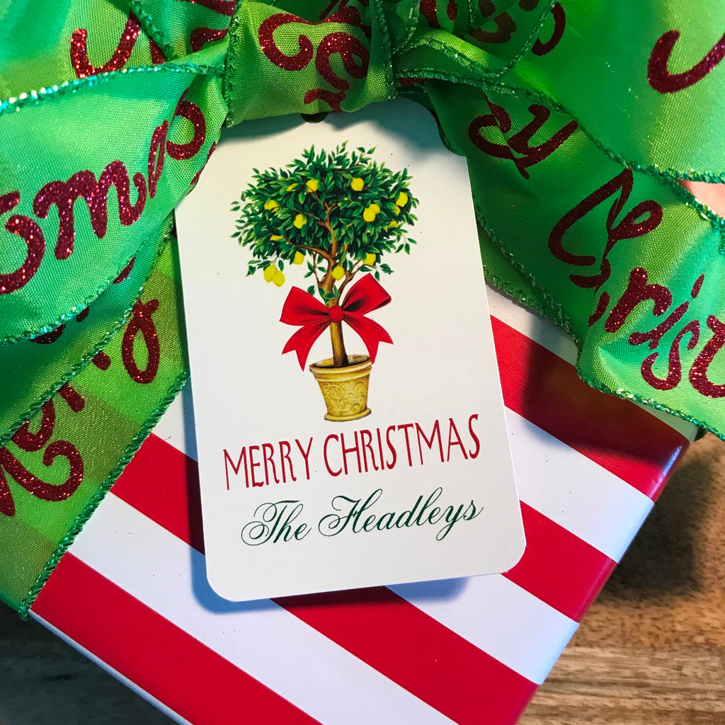 Holiday Topiary Gift Tags