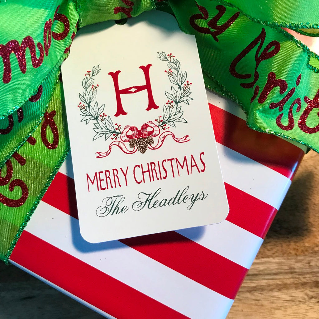 Holiday Wreath Gift Tags