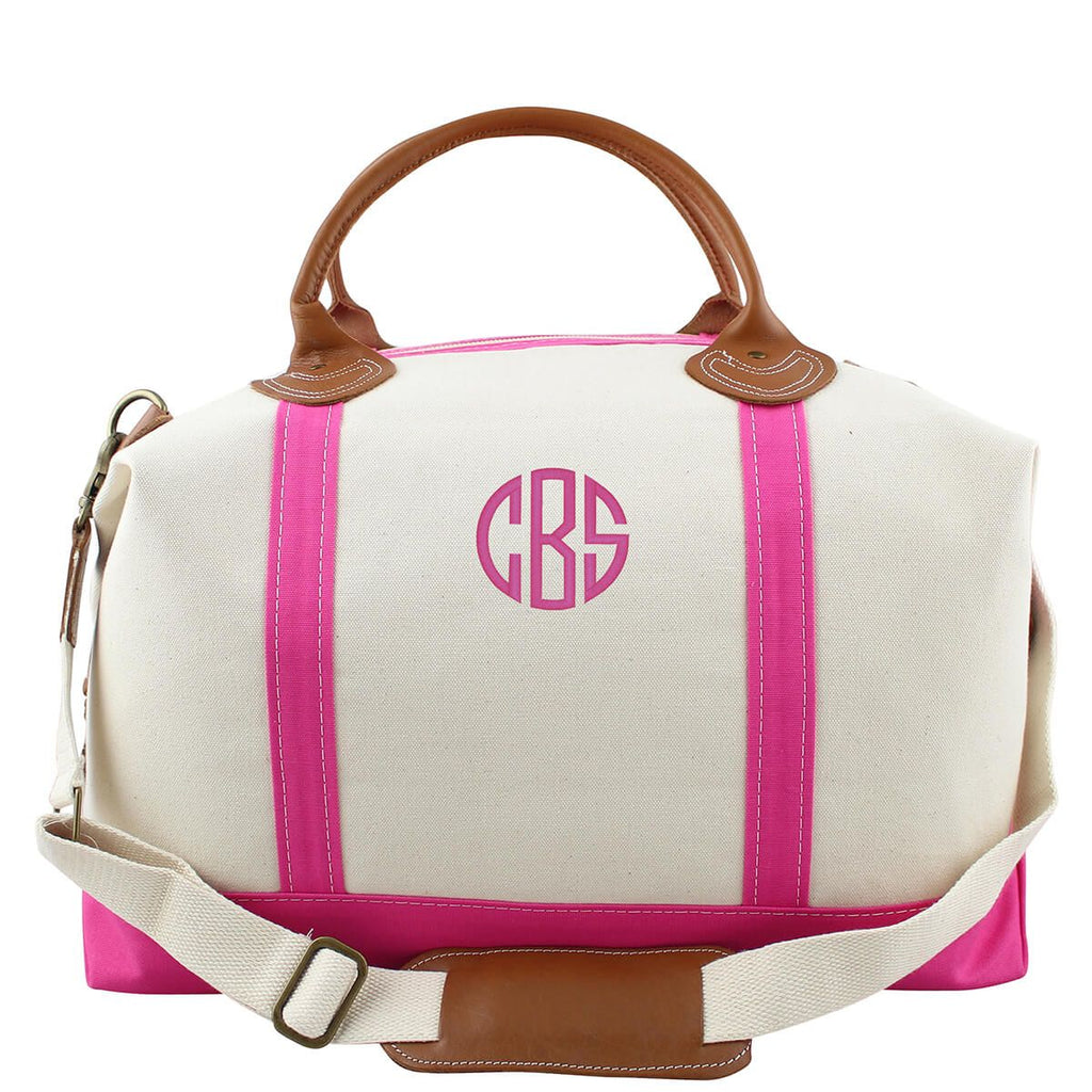 Hot Pink Canvas Monogram Weekender Bag