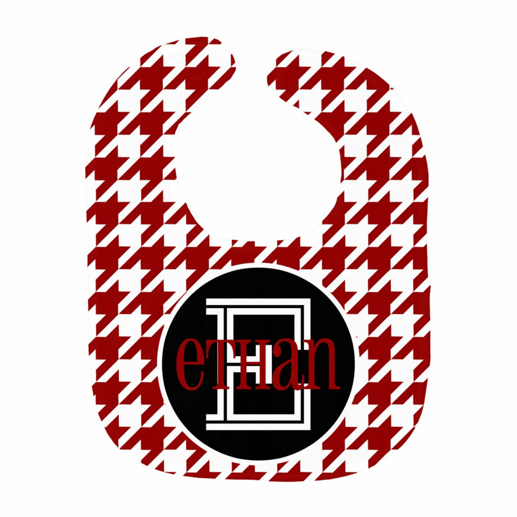 Houndstooth Block Name Bib