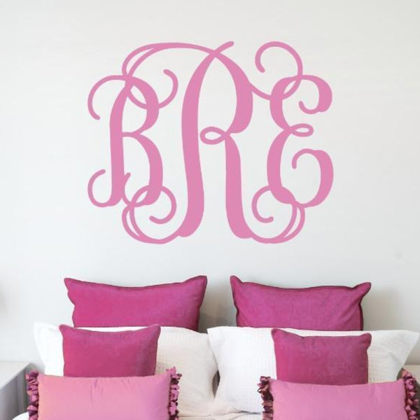 Classic Script Wall Monogram Decal