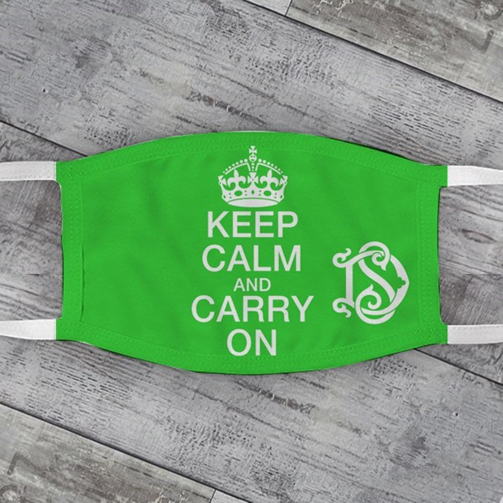 Keep Calm & Carry On Face Mask