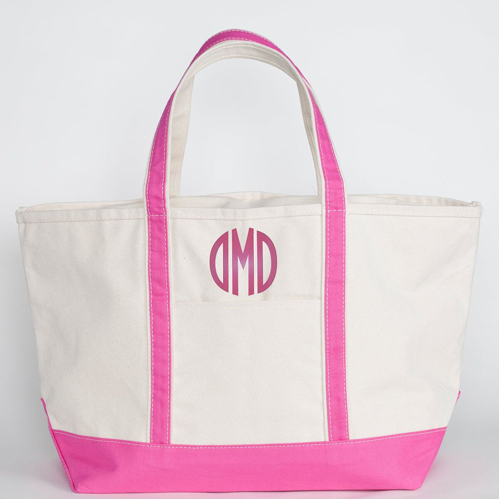 Hot Pink Canvas Tote