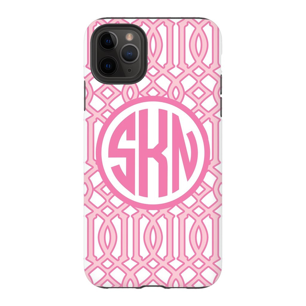 Pink Lattice Phone Case