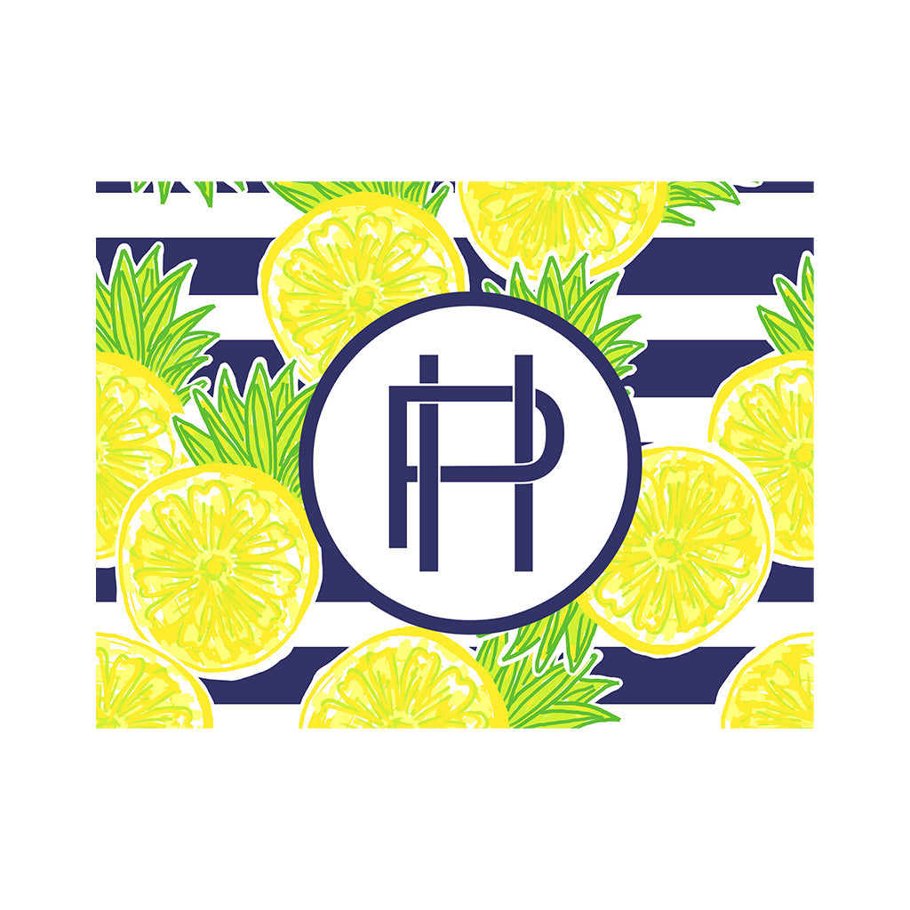 Lemon Stripe Note Cards