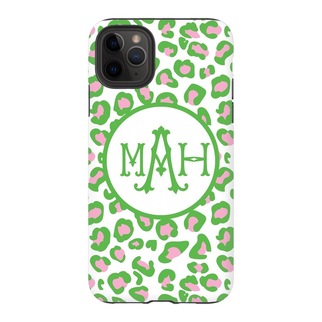 Green & Pink Leopard Phone Case