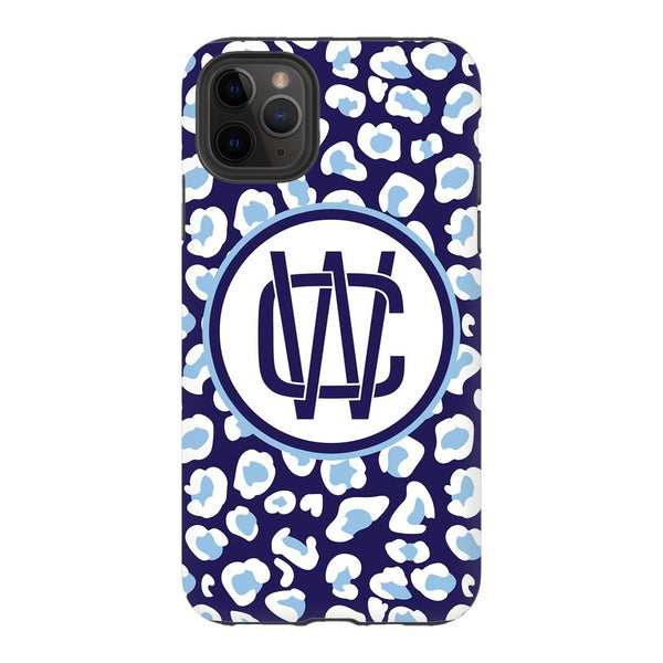 Navy Leopard Phone Case