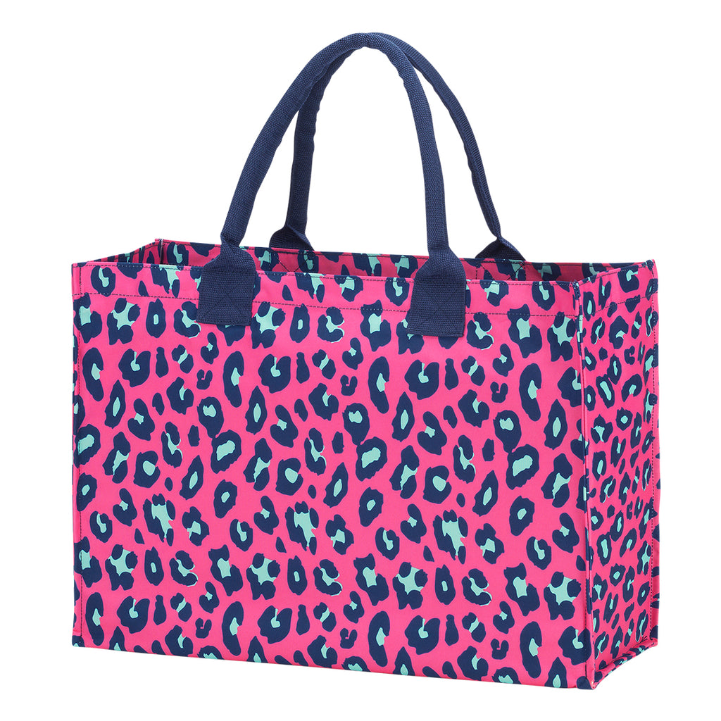 Hot Pink Leopard Tote Bag