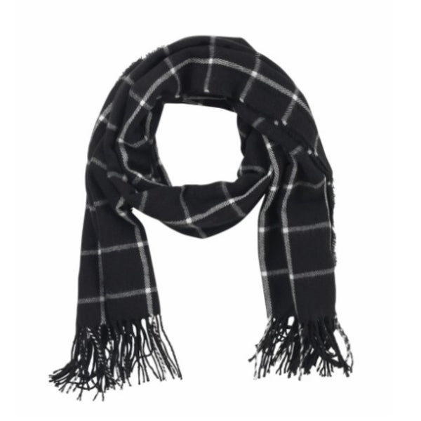 Black Plaid Scarf