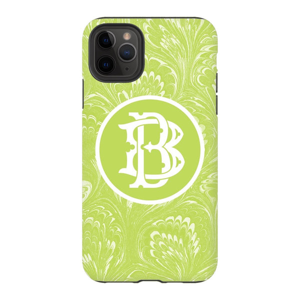 Green Marbled Phone Case