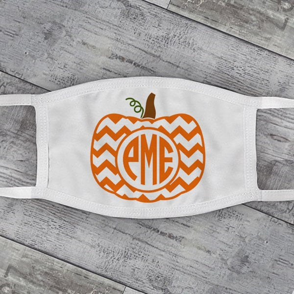 Pumpkin Monogram Face Mask