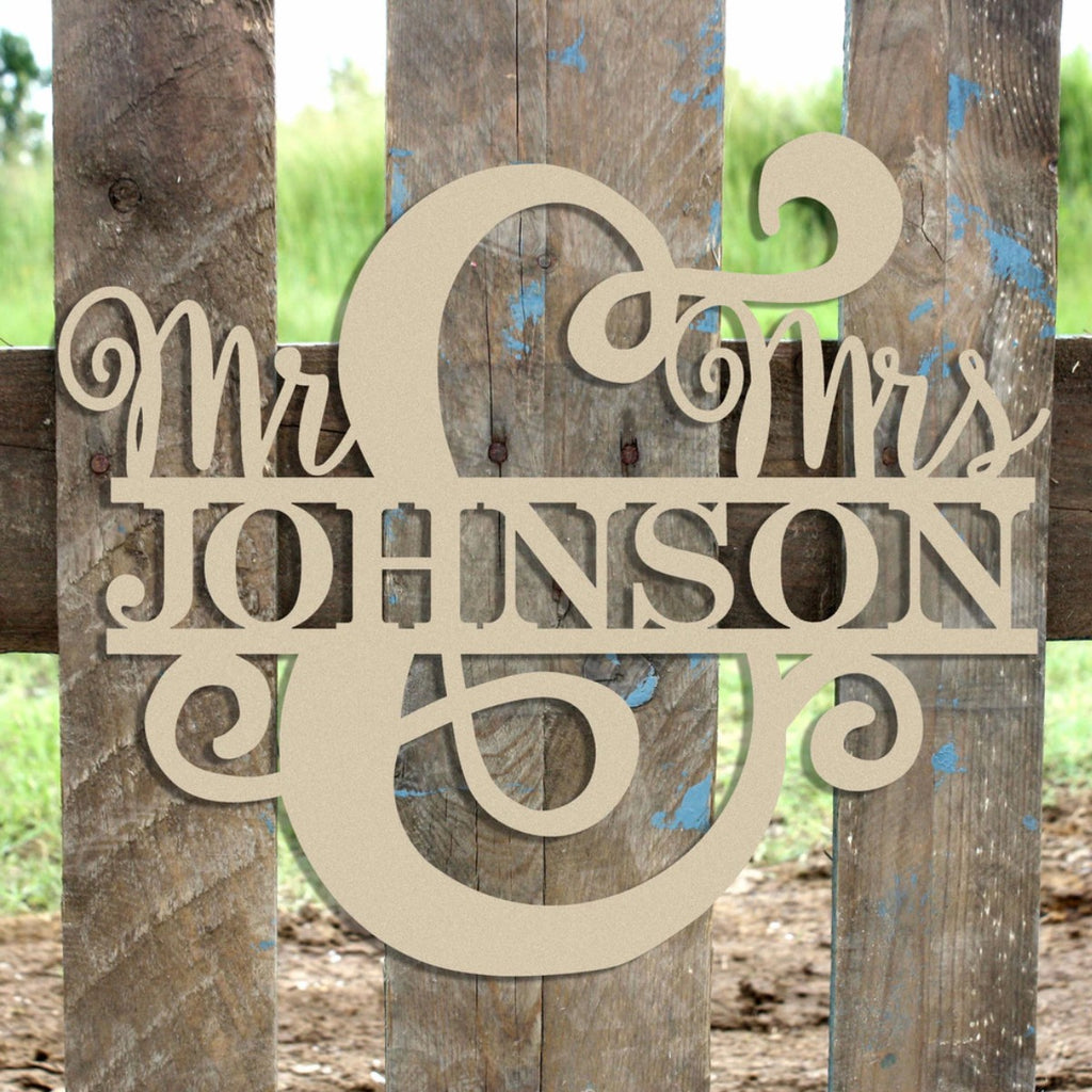 Mr. & Mrs. Name Sign 1