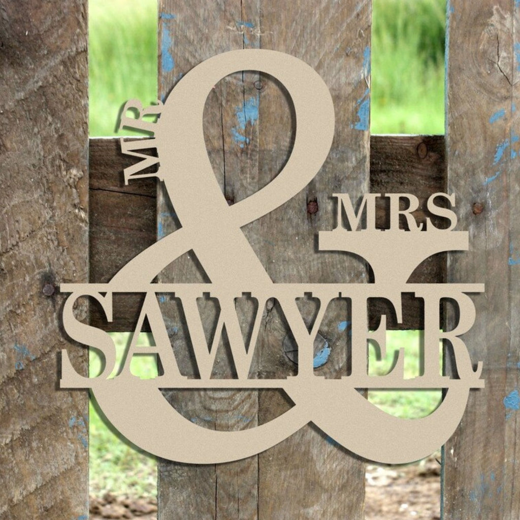 Unfinished Mr. & Mrs. Name Sign 2