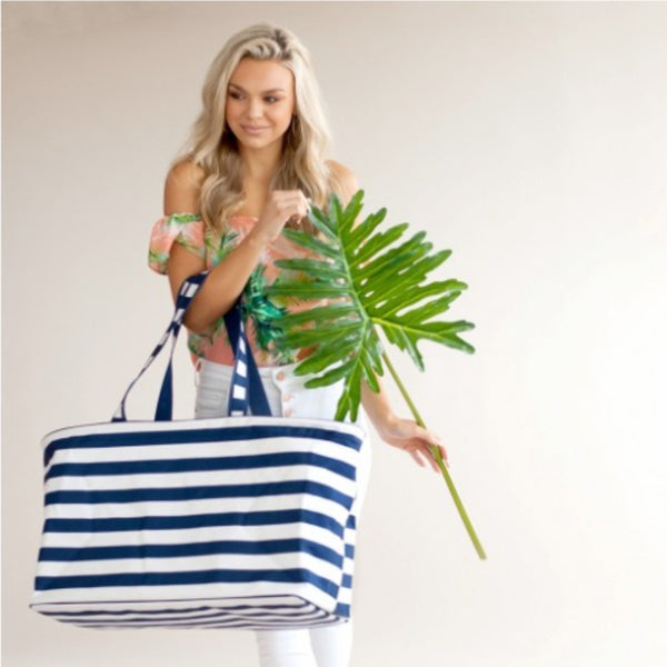 Classic Navy Stripe Ultimate Tote