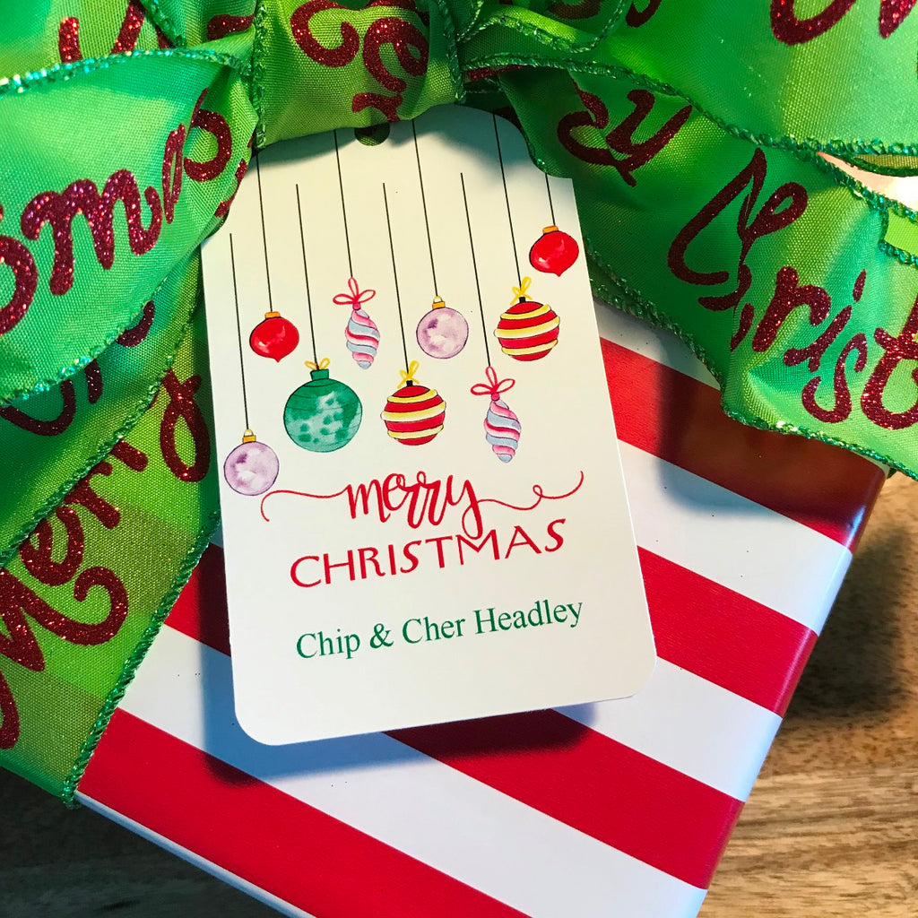 Holiday Ornaments Gift Tags