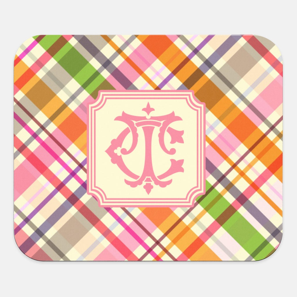 Madras Plaid Mouse Pad