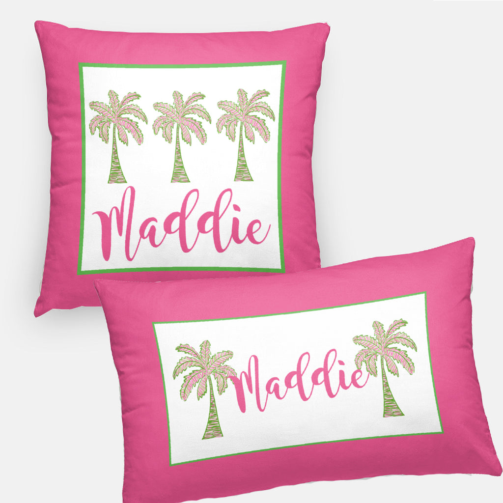 Preppy Palm Tree Pillows