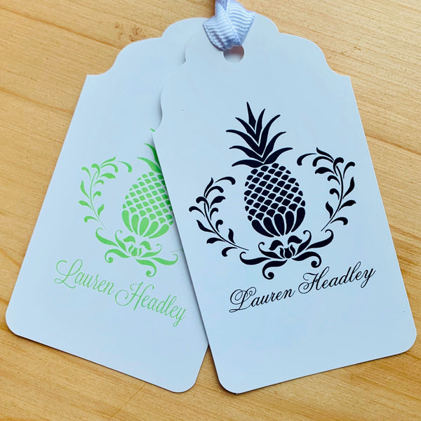Pineapple Custom Gift Tags - Choose Colors