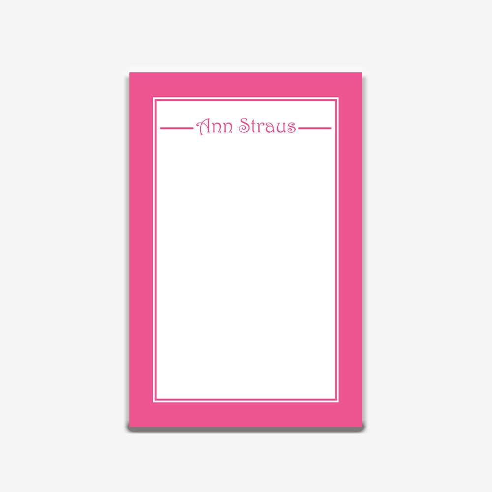 Pink Simply Stated Note Pad