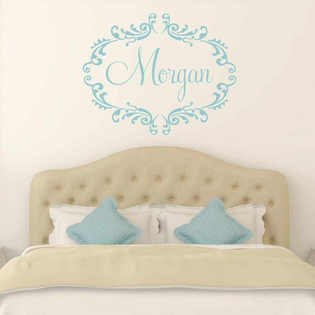 Scroll Frame Wall Decal