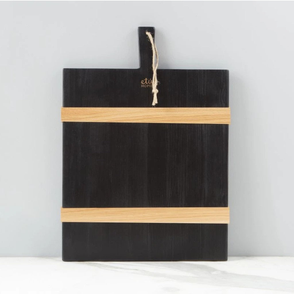 Medium Black Rectangle Charcuterie Board