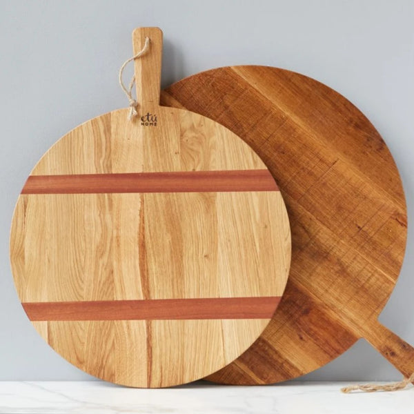 Medium Oak Round Charcuterie Board