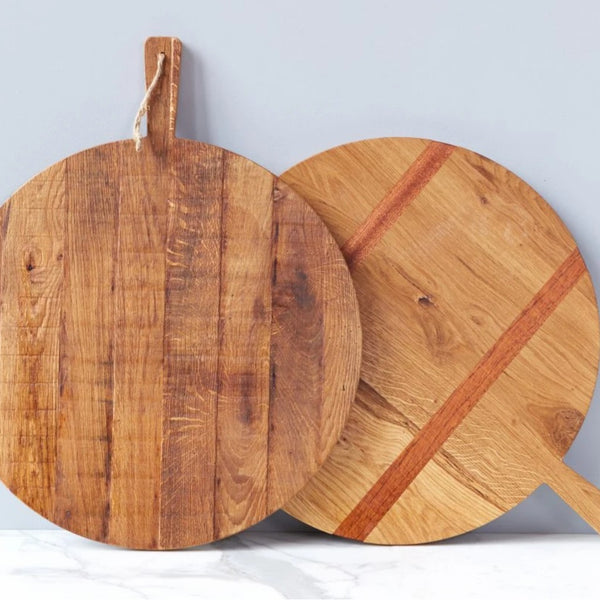 Large Oak Round Charcuterie Board