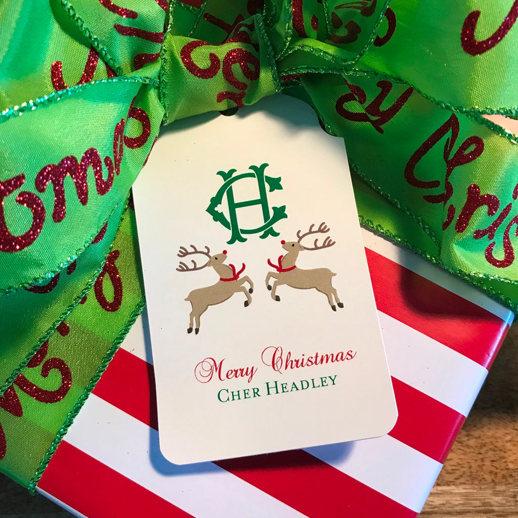 Holiday Reindeer Gift Tags
