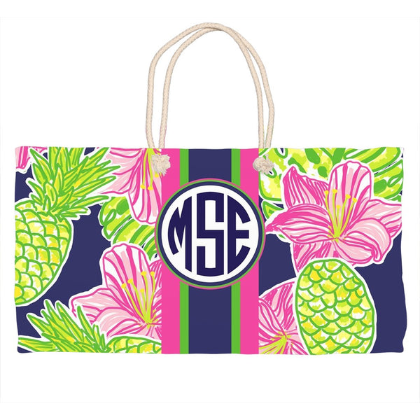 Tropical Breeze Monogram Tote