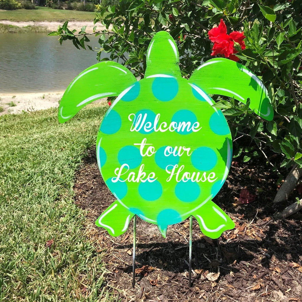 Sea Turtle Door & Lawn Decor