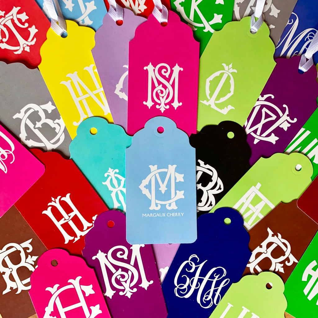 Solid Monogram Gift Tags