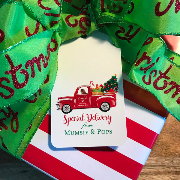 Holiday Special Delivery Gift Tags