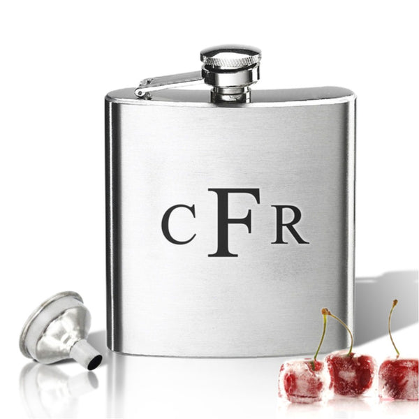 Monogram Stainless Steel Hip Flask