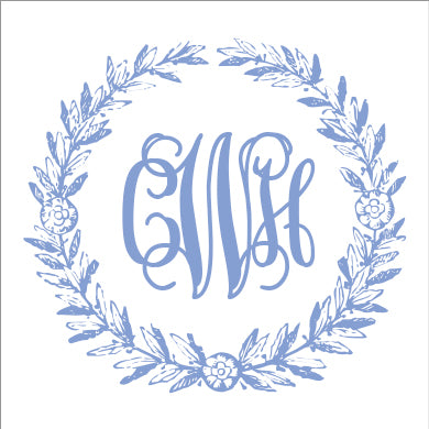Cornflower Summerville Monogram Square or Round Stickers